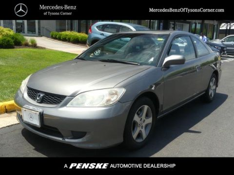 Pre-Owned 2004 Honda Civic 2dr Coupe EX Manual w/Side Airbags
